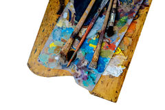 Drewniana paleta Zdjęcia Royalty Free