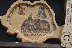 Drewniana pamiątka z władyką Dracula, Rumunia fotografia royalty free
