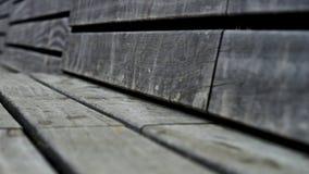Drewniana parkowa ławka Fotografia Royalty Free