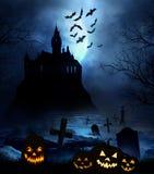 Drewniana podłoga z Halloweenowym tłem Obrazy Royalty Free