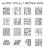 Drewniana podłogowa ikona ilustracji