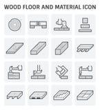 Drewniana podłogowa ikona royalty ilustracja