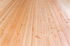 Drewniana podłogowa tło fotografii tekstura z perspektywicznym skutkiem Zdjęcia Royalty Free