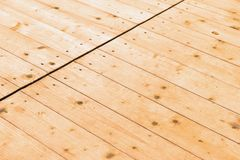Drewniana podłoga od desek Zdjęcia Stock