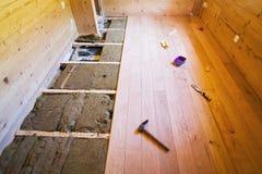 Drewniana podłogowa budowa Obraz Stock