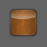 Drewniana podaniowa ikona wektoru ilustracja Fotografia Royalty Free