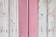 Drewniana powierzchnia malująca w dwa kolorach Fotografia Royalty Free