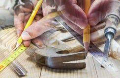 Drewniana praca Obrazy Stock