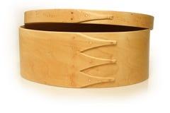 drewniana pudełkowata biżuteria Zdjęcie Royalty Free
