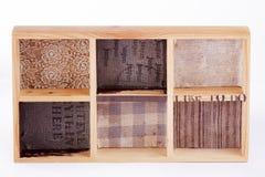 Drewniana pudełkowata rama Obrazy Royalty Free