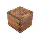 Drewniana Pudełkowata Wycinanka Fotografia Stock