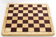 Drewniana pusta szachowa deska Fotografia Royalty Free