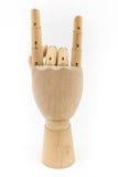 Drewniana ręka act06 Zdjęcia Royalty Free
