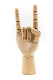 Drewniana ręka act07 Obraz Stock