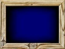 Drewniana rama, rozjarzony ekran, chroma klucz, kino ekran, stażysta Fotografia Royalty Free