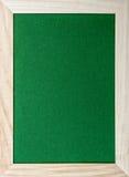 Drewniana rama wokoło zielonego glittery papieru Zdjęcie Royalty Free
