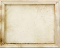 Drewniana rama z starym papierem fotografia royalty free
