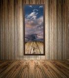 drewniana ramowa fotografia Obrazy Royalty Free