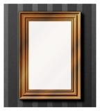 drewniana ramowa fotografia Ilustracji