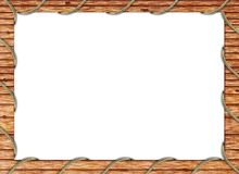 drewniana ramowej zdjęcie Zdjęcia Royalty Free