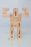 Drewniana robot zabawka Obrazy Royalty Free