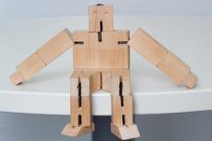 Drewniana robot zabawka Obraz Stock