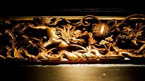 Drewniana rzeźba obraz royalty free