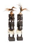Drewniana rzeźba Afrykańska rodzina fotografia stock