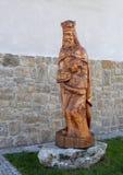 Drewniana rzeźba wioska Holasovice, republika czech zdjęcie royalty free