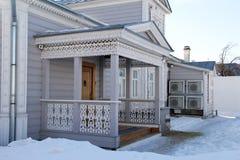 Drewniana rzeźbiąca architektura Zdjęcie Royalty Free