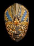 Drewniana rzeźbiąca Malezyjska plemienna twarzy maska Zdjęcie Royalty Free