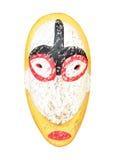 Drewniana rzeźbiąca obrządkowa twarz statua zdjęcia royalty free