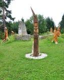 Drewniana rzeźba w kraju Obrazy Stock