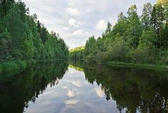 Drewniana rzeka Obrazy Stock