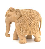 drewniana słoń rzeźba Obrazy Royalty Free