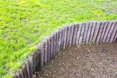 Drewniana słup trawa Obraz Stock