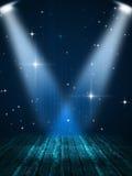 Drewniana scena z światłem reflektorów Obraz Royalty Free