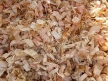 Drewniana sieczki tła tekstura Zdjęcie Royalty Free