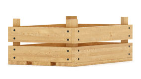 Drewniana skrzynka Zdjęcie Royalty Free