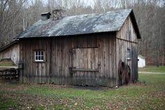 drewniana stajni wieś Fotografia Royalty Free