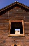 drewniana stara górnik chałupa Zdjęcia Stock
