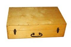 drewniana stara walizka Obrazy Stock