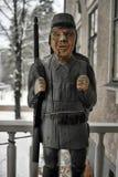 Drewniana statua żołnierz Obraz Stock