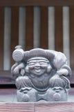 Drewniana statua Ebisu, Japoński bóg szczęście Obrazy Stock
