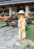 Drewniana statua Krakonos Zdjęcie Royalty Free