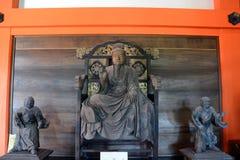 Drewniana statua ksiądz, Kyoto, Japonia obrazy royalty free
