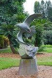 Drewniana statua orzeł Obrazy Royalty Free