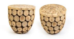 Drewniana stolec odizolowywaj?ca na bia?ym tle obraz stock