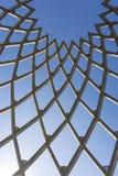 Drewniana struktura na nieba tle Zdjęcie Stock