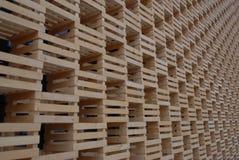 Drewniana struktura przy expo Milano 2015 Zdjęcia Royalty Free